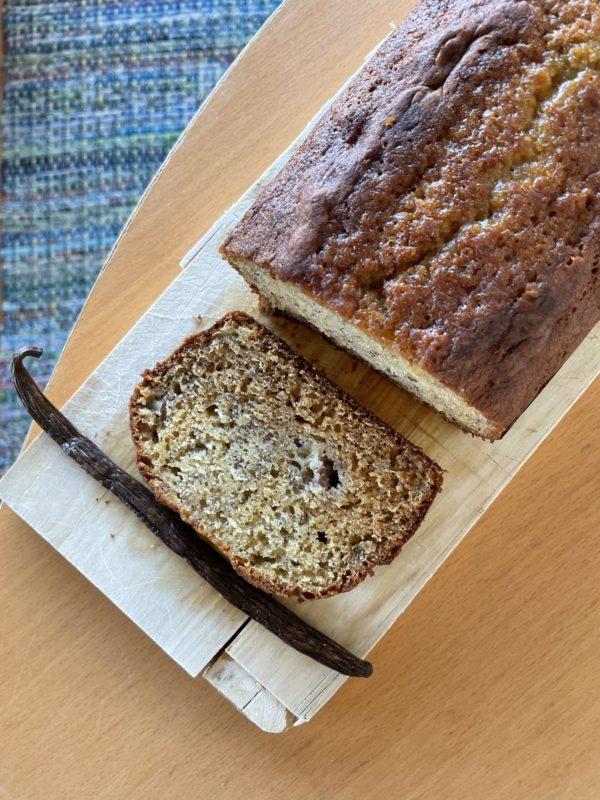 recette banana bread à la vanille
